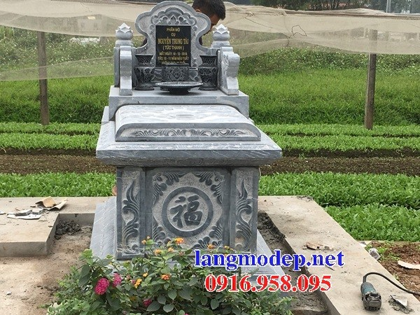 93 Mẫu mộ không mái bằng đá thiết kế đẹp bán tại Ninh Bình