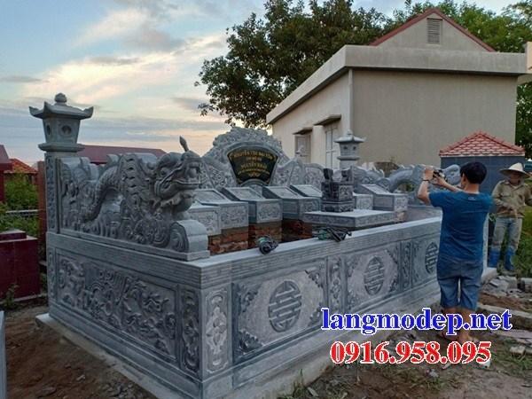 93 Mẫu mộ không mái bằng đá thiết kế hiện đại đẹp bán tại Ninh Bình