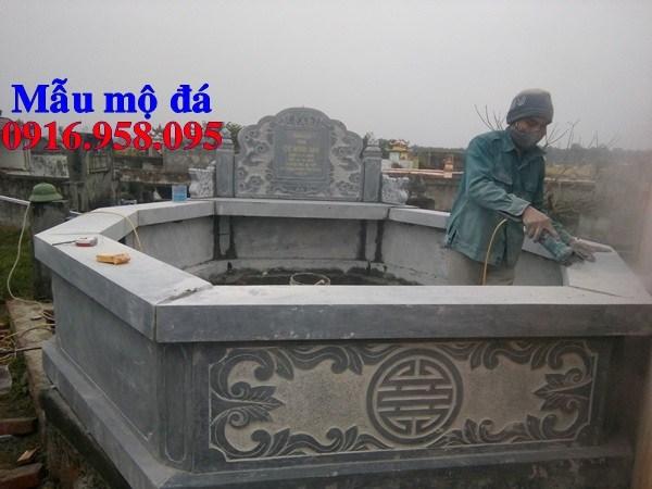 93 Mẫu mộ lục lăng bát giác bằng đá đẹp bán tại Ninh Bình