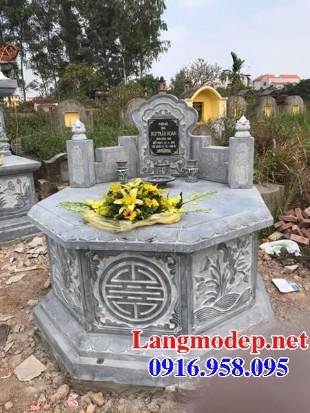 93 Mẫu mộ lục lăng bát giác bằng đá chạm khắc hoa văn đẹp bán tại Ninh Bình