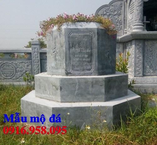 93 Mẫu mộ lục lăng bát giác bằng đá tự nhiên nguyên khối đẹp bán tại Ninh Bình