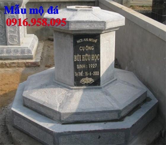 93 Mẫu mộ lục lăng bát giác bằng đá thiết kế đơn giản đẹp bán tại Ninh Bình