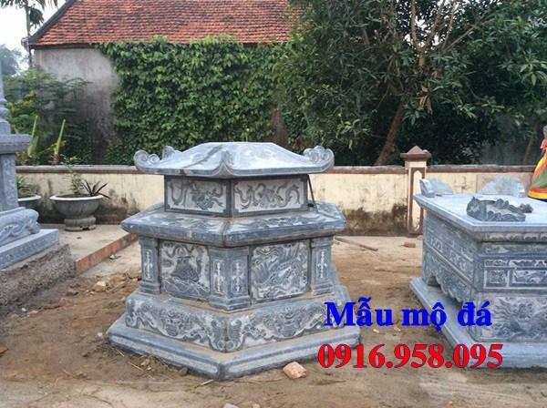 93 Mẫu mộ lục lăng bát giác bằng đá thiết kế hiện đại đẹp bán tại Ninh Bình