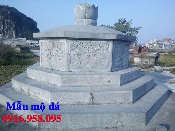 93 Mẫu mộ lục lăng bát giác bằng đá xanh Thanh Hóa đẹp bán tại Ninh Bình