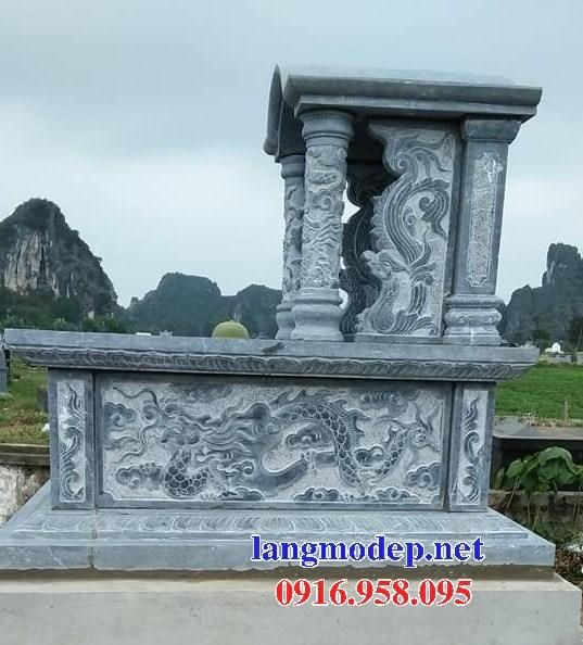 93 Mẫu mộ một mái bằng đá điêu khắc rồng phượng đẹp bán tại Ninh Bình