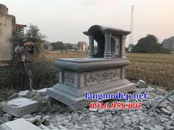 93 Mẫu mộ một mái bằng đá chạm khắc hoa văn đẹp bán tại Ninh Bình.jpg