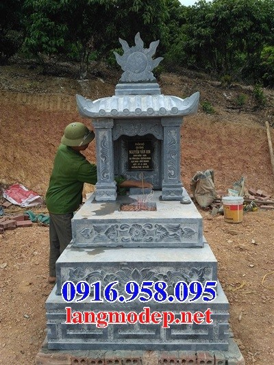 93 Mẫu mộ một mái bằng đá thiết kế đẹp bán tại Ninh Bình