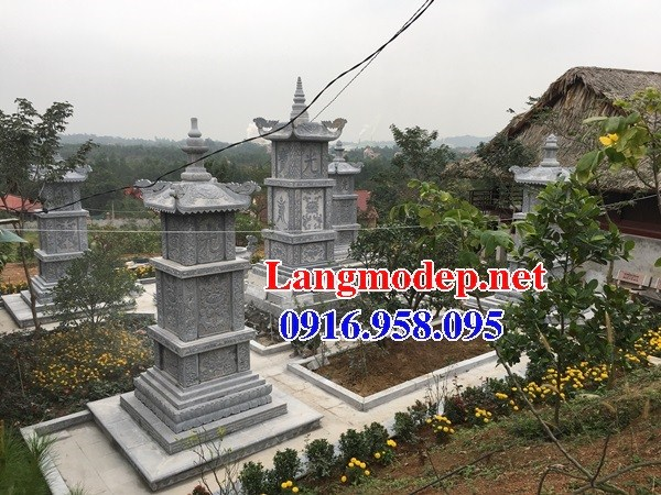 93 Mẫu mộ tháp bằng đá tự nhiên nguyên khối đẹp bán tại Ninh Bình