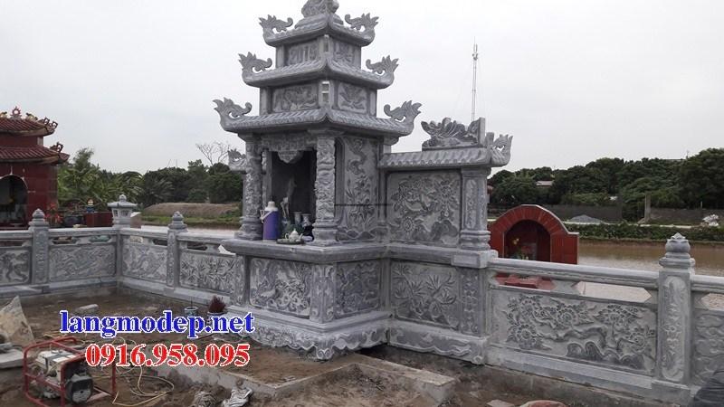 93 Mẫu miếu thờ chung khu lăng mộ gia đình dòng họ bằng đá đẹp bán tại Ninh Bình