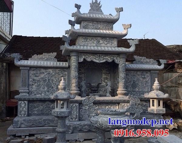 93 Mẫu miếu thờ chung khu lăng mộ gia đình dòng họ bằng đá chạm khắc hoa văn đẹp bán tại Ninh Bình