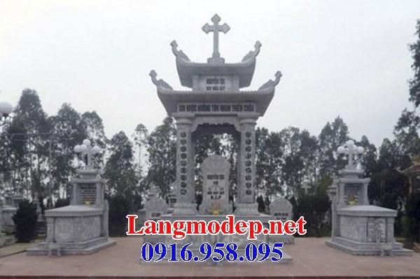 94 Mẫu khu lăng mộ đạo thiên chúa công giáo bằng đá đẹp bán tại Cao Bằng
