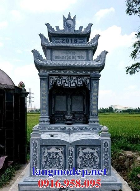 94 Mẫu mộ đôi gia đình bằng đá đẹp bán tại Cao Bằng