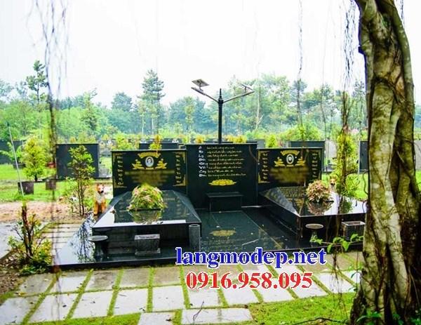 94 Mẫu mộ đôi gia đình bằng đá kim sa Ấn Độ cao cấp đẹp bán tại Cao Bằng