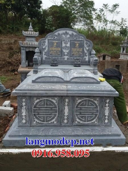 94 Mẫu mộ đôi gia đình bằng đá xanh Thanh Hóa đẹp bán tại Cao Bằng