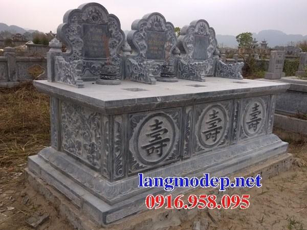 94 Mẫu mộ đôi gia đình ba ngôi kề nhau bằng đá đẹp bán tại Cao Bằng
