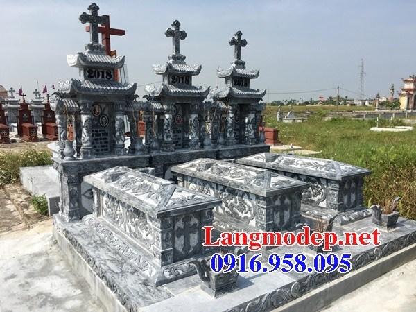 94 Mẫu mộ đạo thiên chúa công giáo bằng đá chạm khắc hoa văn đẹp bán tại Cao Bằng