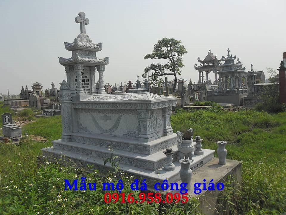 94 Mẫu mộ đạo thiên chúa công giáo bằng đá thiết kế đẹp bán tại Cao Bằng