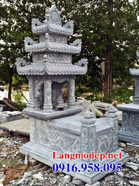 94 Mẫu mộ ba mái bằng đá điêu khắc long phụng đẹp bán tại Cao Bằng