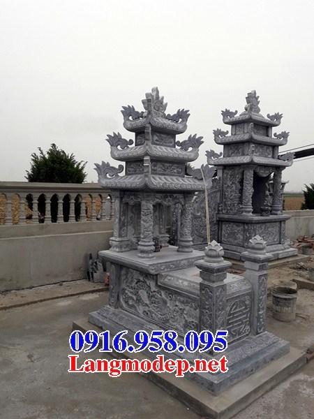 94 Mẫu mộ ba mái bằng đá xanh Thanh Hóa đẹp bán tại Cao Bằng