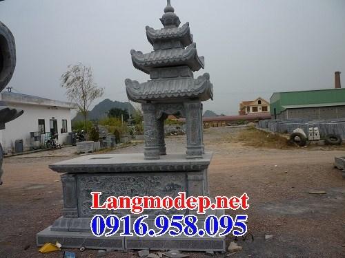 94 Mẫu mộ ba mái cất để tro cốt hỏa táng bằng đá đẹp bán tại Cao Bằng