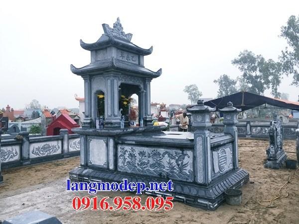 94 Mẫu mộ hai mái bằng đá chạm khắc hoa văn đẹp bán tại Cao Bằng