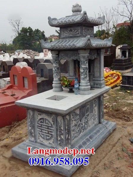 94 Mẫu mộ hai mái bằng đá tự nhiên nguyên khối đẹp bán tại Cao Bằng
