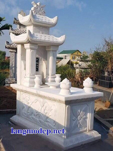 94 Mẫu mộ hai mái bằng đá trắng cao cấp đẹp bán tại Cao Bằng