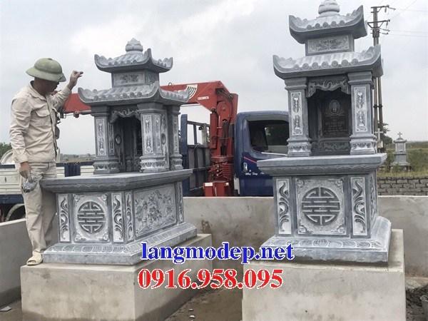 94 Mẫu mộ hai mái bằng đá xanh Thanh Hóa đẹp bán tại Cao Bằng
