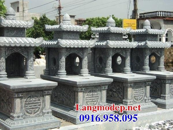 94 Mẫu mộ hai mái cất để tro cốt hỏa táng bằng đá đẹp bán tại Cao Bằng