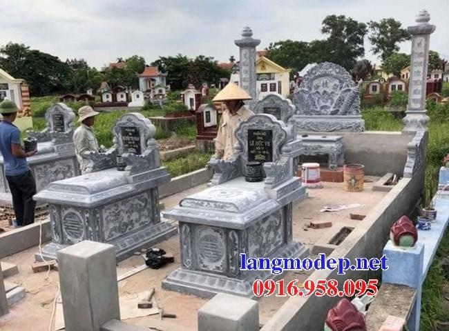 94 Mẫu mộ không mái bằng đá đẹp bán tại Cao Bằng