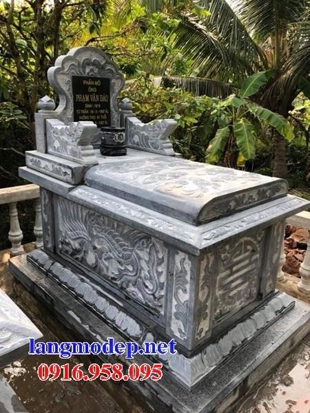 94 Mẫu mộ không mái bằng đá điêu khắc tinh xảo đẹp bán tại Cao Bằng