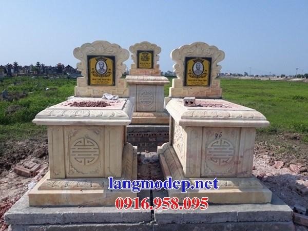 94 Mẫu mộ không mái bằng đá vàng cao cấp đẹp bán tại Cao Bằng
