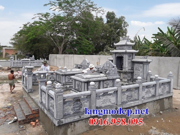 94 Mẫu mộ không mái bằng đá xanh Thanh Hóa đẹp bán tại Cao Bằng