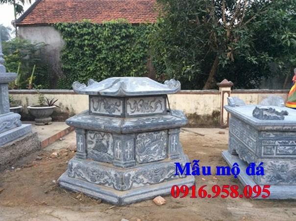 94 Mẫu mộ lục lăng bát giác bằng đá chạm khắc hoa văn đẹp bán tại Cao Bằng