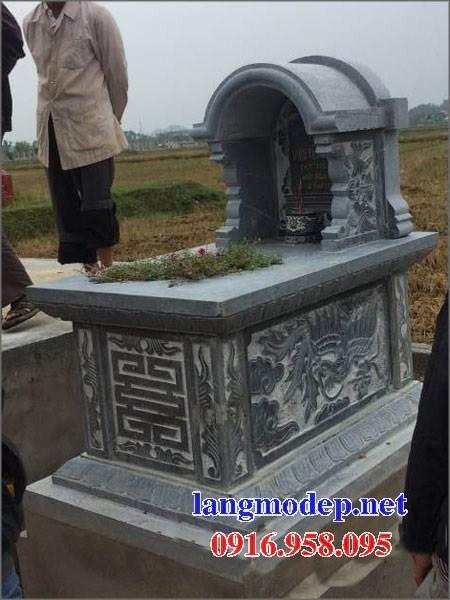 94 Mẫu mộ một mái bằng đá điêu khắc long phụng đẹp bán tại Cao Bằng