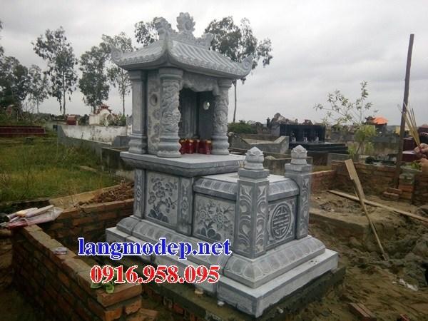 94 Mẫu mộ một mái bằng đá chạm khắc hoa văn đẹp bán tại Cao Bằng