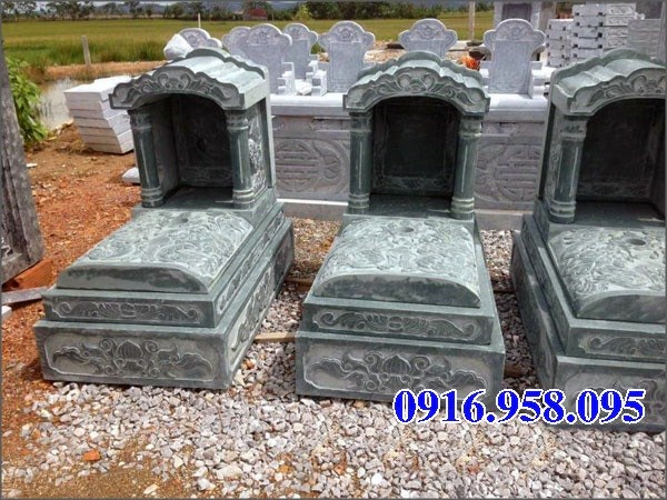 94 Mẫu mộ một mái cất để tro cốt hỏa táng bằng đá đẹp bán tại Cao Bằng