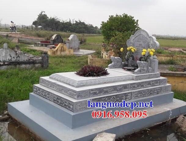 94 Mẫu mộ tam cấp bằng đá xanh Thanh Hóa đẹp bán tại Cao Bằng