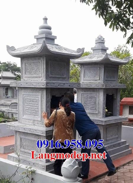 94 Mẫu mộ tháp bằng đá tự nhiên nguyên khối đẹp bán tại Cao Bằng