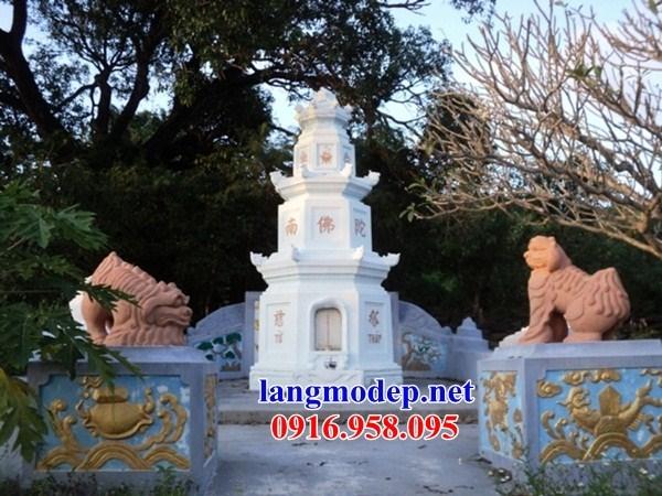 94 Mẫu mộ tháp bằng đá trắng cao cấp đẹp bán tại Cao Bằng