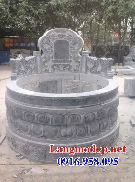 94 Mẫu mộ tròn cất để tro cốt hỏa táng bằng đá đẹp bán tại Cao Bằng