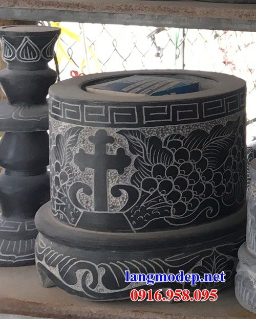 86 Mẫu Hình ảnh bát hương bình bông nhà thờ họ đình đền chùa miếu khu lăng mộ bằng đá tại Tuyên Quang