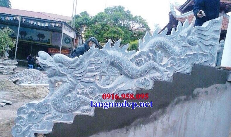 86 Mẫu Hình ảnh rồng bậc thềm nhà thờ họ đình đền chùa miếu khu lăng mộ bằng đá tại Tuyên Quang