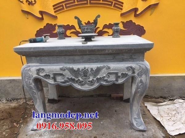 86 Mẫu bàn lễ nhà thờ họ đình đền chùa miếu khu lăng mộ bằng đá đặt tại Tuyên Quang