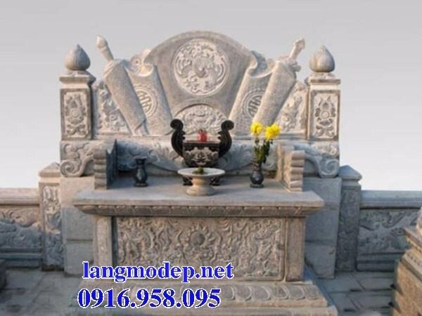 86 Mẫu bàn lễ nhà thờ họ đình đền chùa miếu khu lăng mộ bằng đá Ninh Bình tại Tuyên Quang