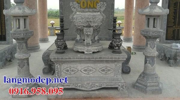 86 Mẫu bàn lễ nhà thờ họ đình đền chùa miếu khu lăng mộ bằng đá chạm khắc tinh xảo tại Tuyên Quang