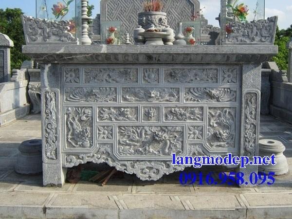 86 Mẫu bàn lễ nhà thờ họ đình đền chùa miếu khu lăng mộ bằng đá tự nhiên tại Tuyên Quang