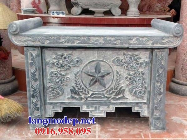 86 Mẫu bàn lễ nhà thờ họ đình đền chùa miếu khu lăng mộ bằng đá thiết kế đẹp tại Tuyên Quang