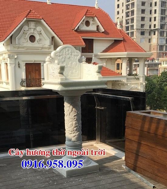 86 Mẫu bàn thờ thiên cây hương miếu thờ nhà thờ họ đình đền chùa miếu khu lăng mộ bằng đá trắng tại Tuyên Quang
