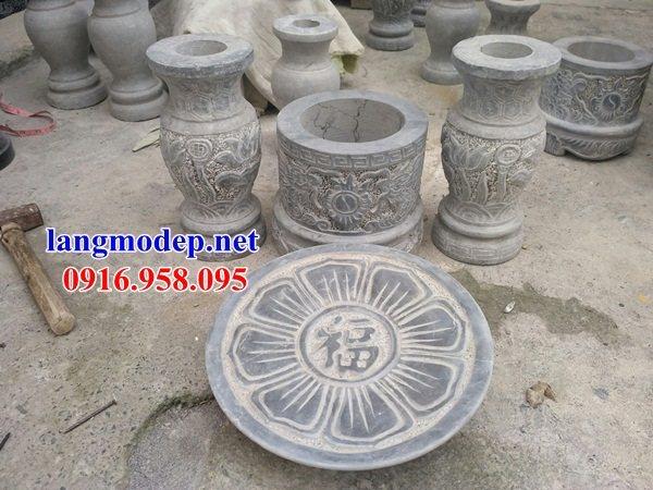 86 Mẫu bát hương bình bông nhà thờ họ đình đền chùa miếu khu lăng mộ bằng đá Ninh Bình tại Tuyên Quang